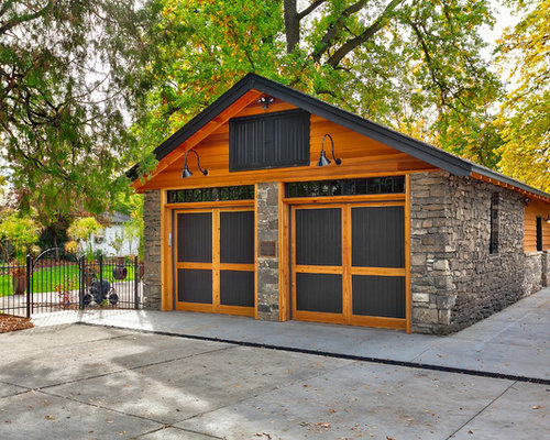 Extend garage home design ideas renovations photos for Arts and crafts garage