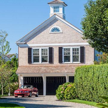 Historic Hamblin House – Shingle Style 3-car Garage with Eagle Weathervane -Cust