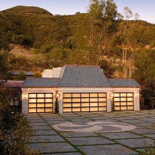 Inspiration for a timeless four-car garage remodel in Santa Barbara
