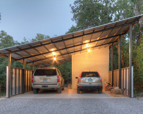 houzz industrial detached garage design ideas remodel pictures - Garage Design Ideas