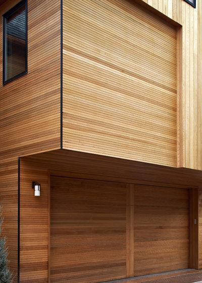 コンテンポラリー ガレージ by Menendez Architects PC