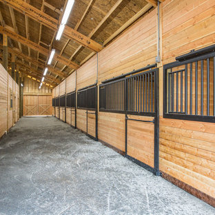 Huge farmhouse garage photo in Other