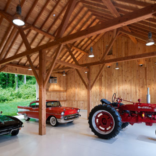 Photo of an expansive country garage in Philadelphia.