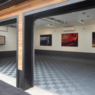 Idéer för en modern fristående garage och förråd