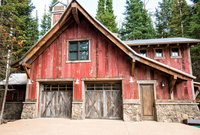 Rustic Garage And Shed by Trestlewood