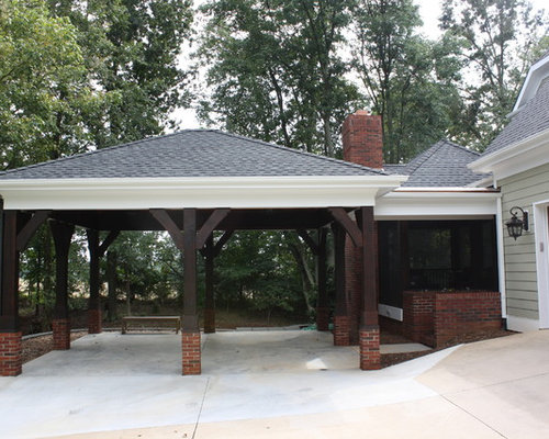 Attached carport home design ideas renovations photos for Carport ideas gallery