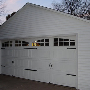 Example of a huge attached two-car carport design in Austin