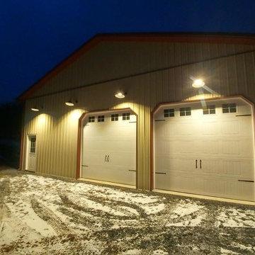 Integrated LED Gooseneck Barn Light Fixtures