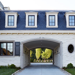 Example of a classic porte cochere design in Other