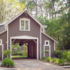 Traditional Garage And Shed by Linn Gresham Haute Decor