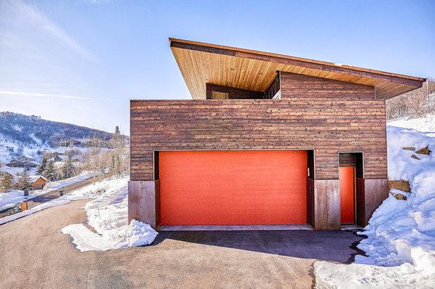 Contemporary Garage by Park City Design Build