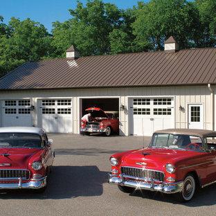 Garage - traditional detached four-car garage idea in Nashville
