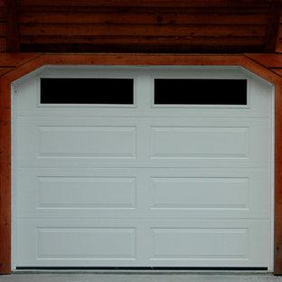 Idéer för mellanstora vintage garager och förråd