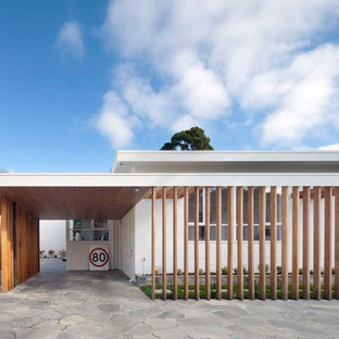 Inspiration for a midcentury garage in Melbourne.