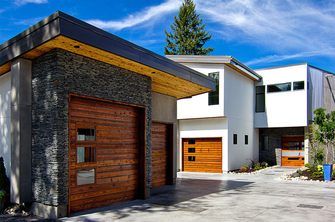 Contemporary Garage And Shed by Wilson & Company Ltd