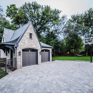 Huge transitional detached two-car garage photo in Chicago