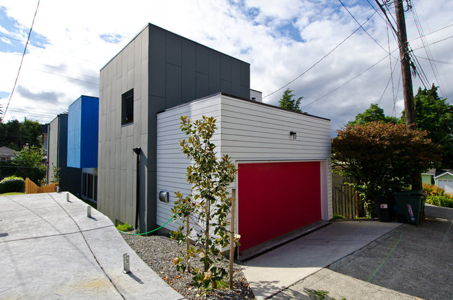 Modern Garage And Shed by Stephenson Design Collective