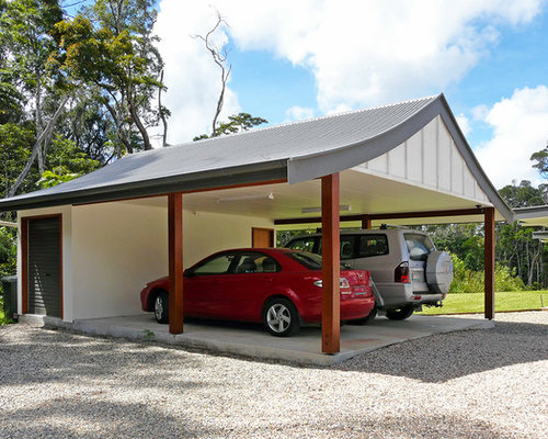 Tropical garage and shed design ideas pictures remodel for Garage ad sainte foy de peyroliere