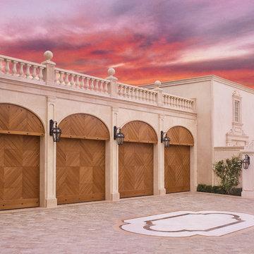 La Jolla Genuine Mahogany Garage Doors