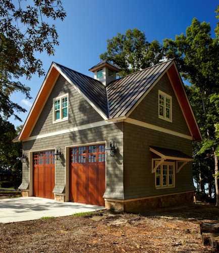 Modern Shed Atlanta: Double Pitched Roof Design Ideas & Remodel Pictures