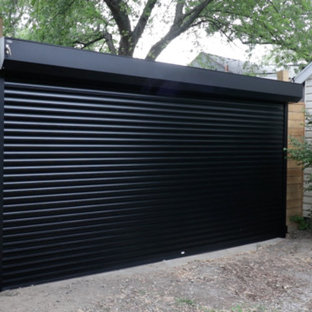 This is an example of a mid-sized industrial one-car garage in Toronto.