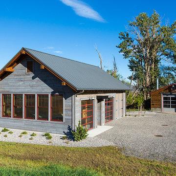 Lazy Heart Ranch | Boathouse & Gravel Bar