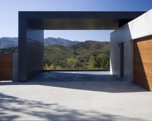 Modern carport houzz for Contemporary carport design architecture