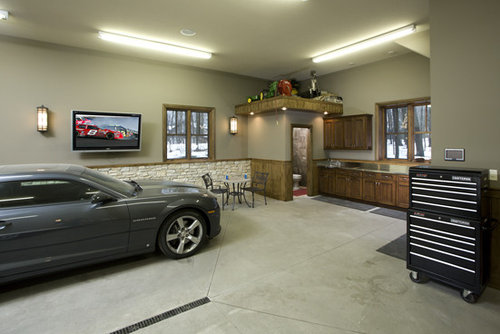 aco linear drain garage and shed design ideas pictures remodel decor. Black Bedroom Furniture Sets. Home Design Ideas