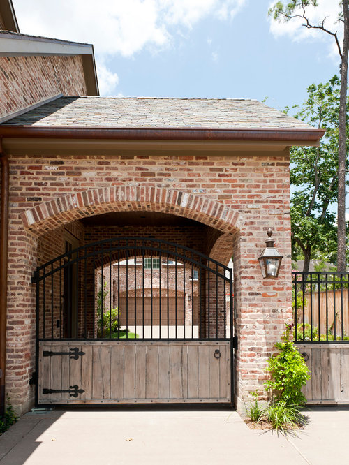 South african gates houzz for Brick carport