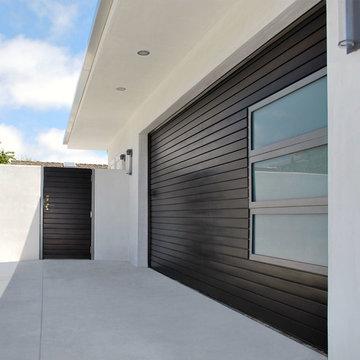 Los Angeles, CA Mid Century Modern Wood Garage Door & Gate Design
