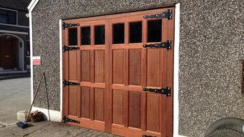 Mahogany Barn Doors Installation