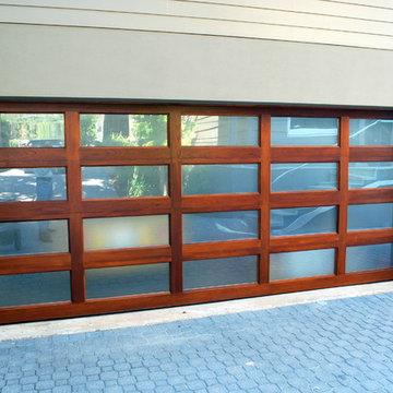 Mahogany Full View Garage Door by Cowart Door Systems