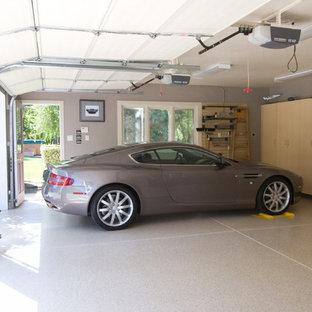 Garage - large modern two-car garage idea in San Francisco