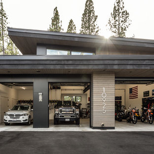 Inspiration for a contemporary garage remodel in Sacramento