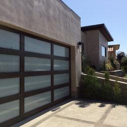 Matching Garage Door and Entry Door in Corona Del Mar, California - •Matching Garage door and Entry door