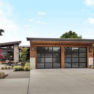 Esempio di garage e rimesse contemporanei