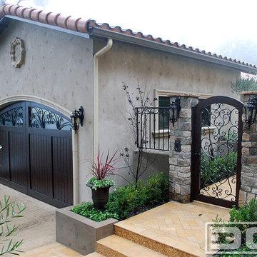 Mediterranean Garage Door & Pedestrian Gates   Ferrari Drive in Beverly Hills CA