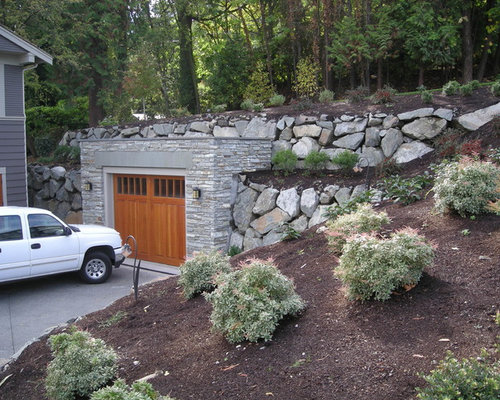 Garage Built In To Hillside Home Design Ideas, Pictures ...