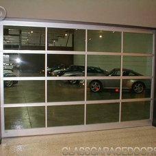 Modern Garage Doors And Openers by bp Glass Garage Doors