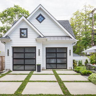 Inspiration for a traditional detached double garage in New York.