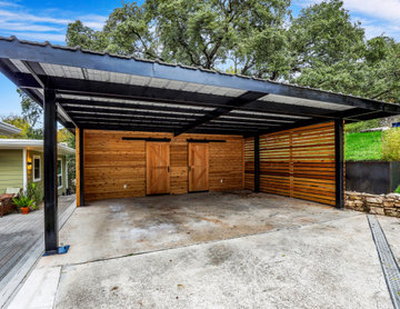 Modern Carport w/ Planters