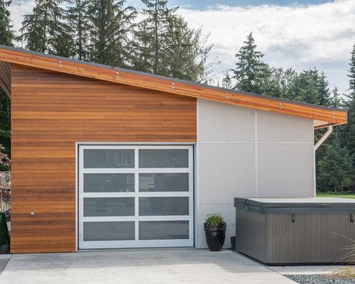 Detached one car garage houzz for Single car detached garage