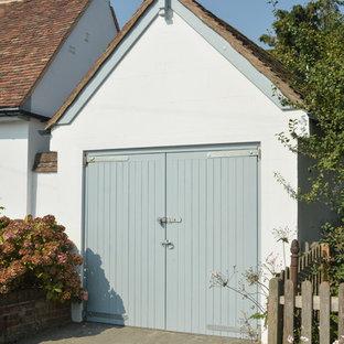 Design ideas for a large rural detached single garage workshop in Kent.