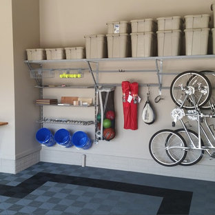 Inspiration for a mid-sized timeless garage remodel in Omaha