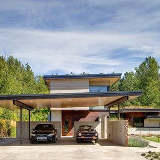 Moderner Carport in Seattle