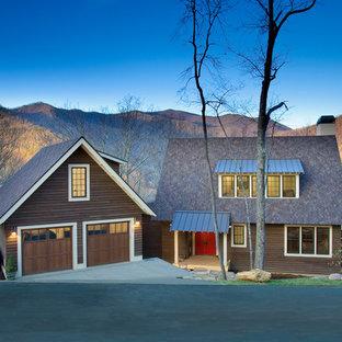 Foto di un garage per due auto indipendente stile rurale di medie dimensioni