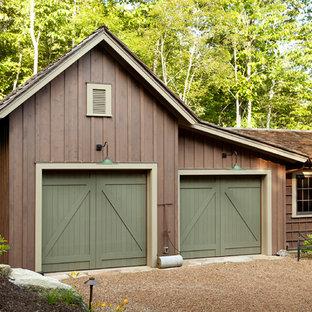 Garage - rustic garage idea in Atlanta