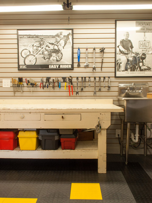 Beautiful Example Of A Classic Garage Workshop Design In Dallas