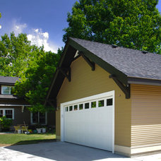 Traditional Garage And Shed by Strite design + remodel