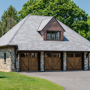 Inspiration for a huge timeless detached three-car garage remodel in Wilmington